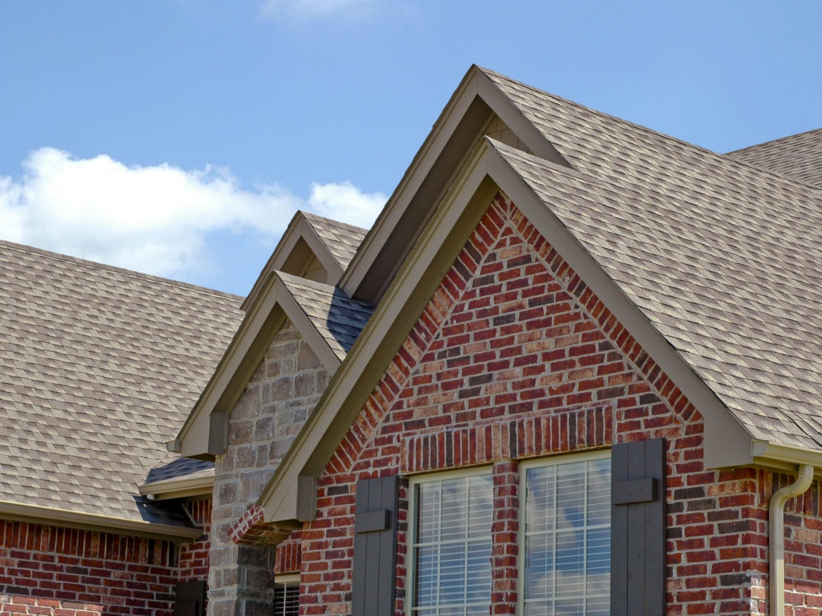 Roof line of a house with gabels